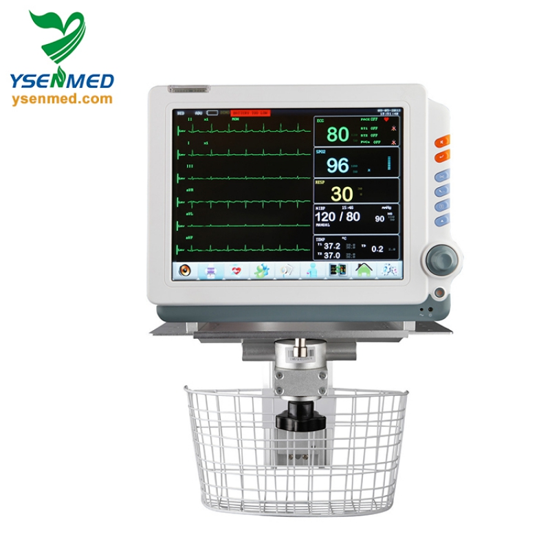 Ambulance 12 inch multi parameter mobile trolley stand