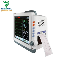 Ambulance 12 inch multi parameter mobile trolley stand cheaper price than mindray patient monitor YSPM90C