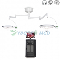 Wall-mounted Double-doomed Lamps LED Surgical Lights With TV System YSOT-LED7050-TV