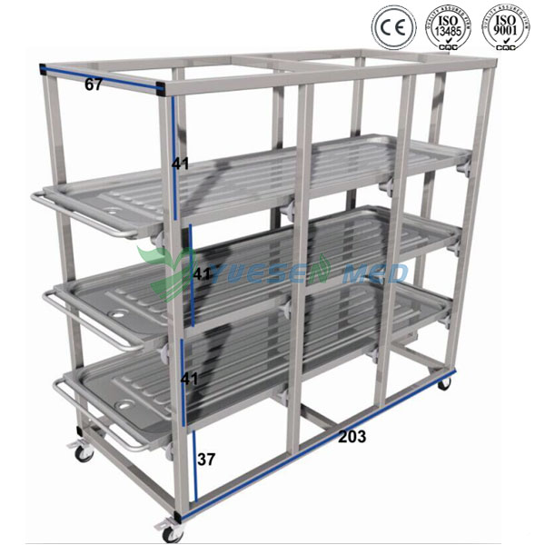 stainless steel corpse storage rack
