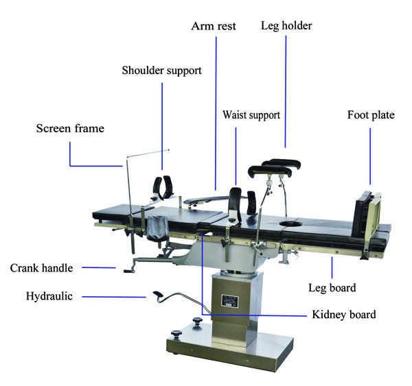 OT Surgical Use Multifuctional Operating Table YSOT-3008C