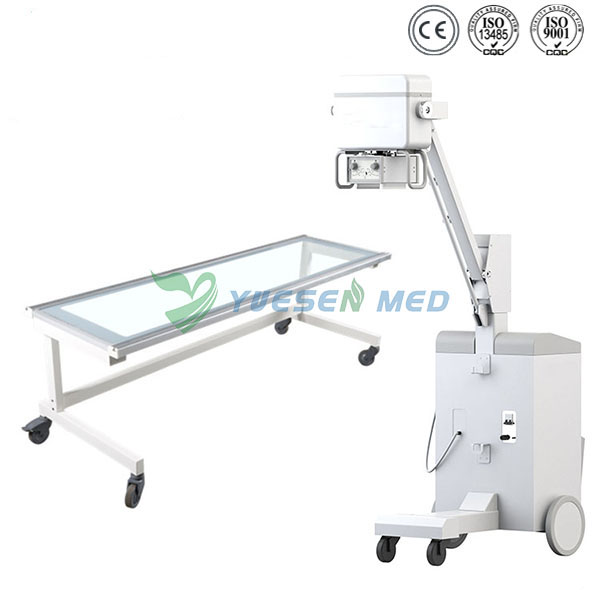 YSX100GM Hospital low price high frequency 100mA 5kw mobile medical x ray machine